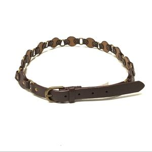 NWT Sonoma faux leather chain belt L